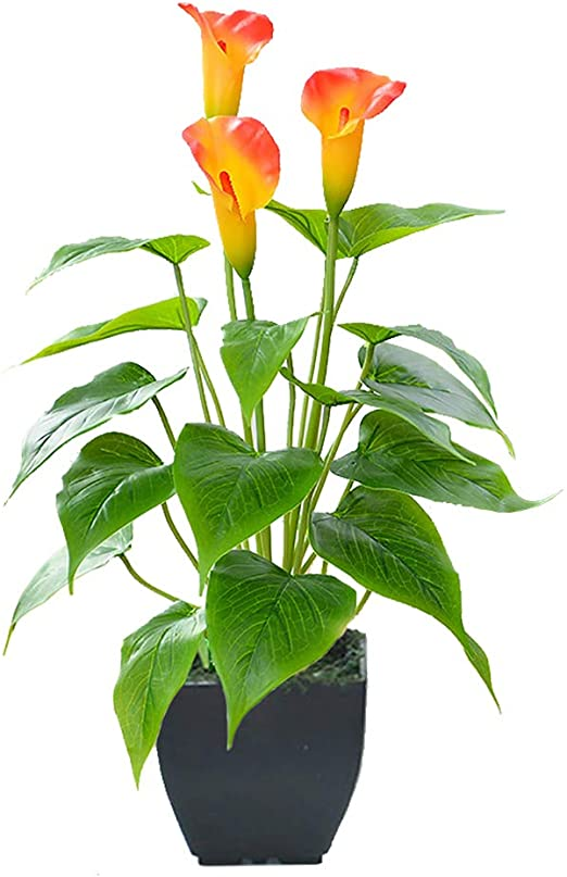 Amazon.com: Konstgjorda blommaväxter Calla Lily Faux Small Potted.