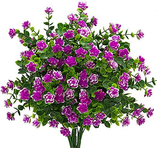 Amazon.com: konstgjorda blommor, falska UV-resistenta växter utomhus.