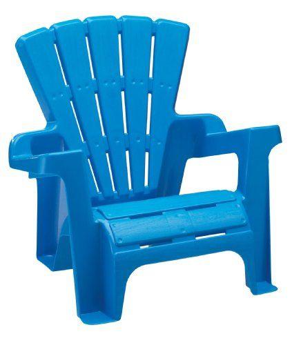 Adirondack-stol för barn    Blå adirondack stol, plast.
