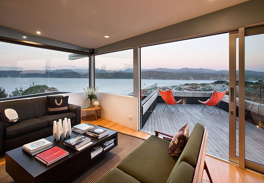 2 hus i Nya Zeeland med modern design och fantastisk utsikt