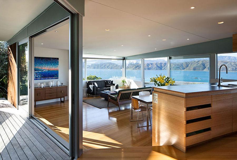5 hus i Nya Zeeland med modern design och fantastisk utsikt