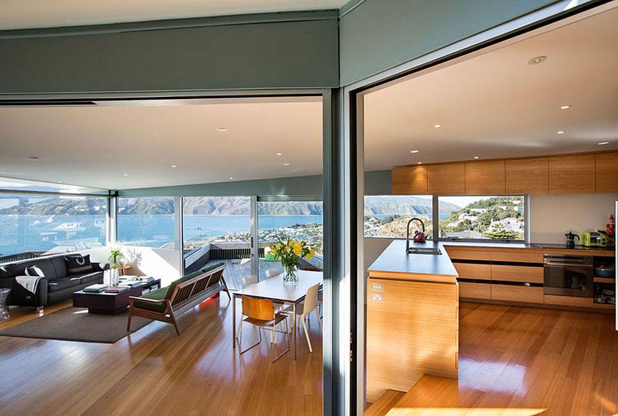 4 hus i Nya Zeeland med modern design och fantastisk utsikt