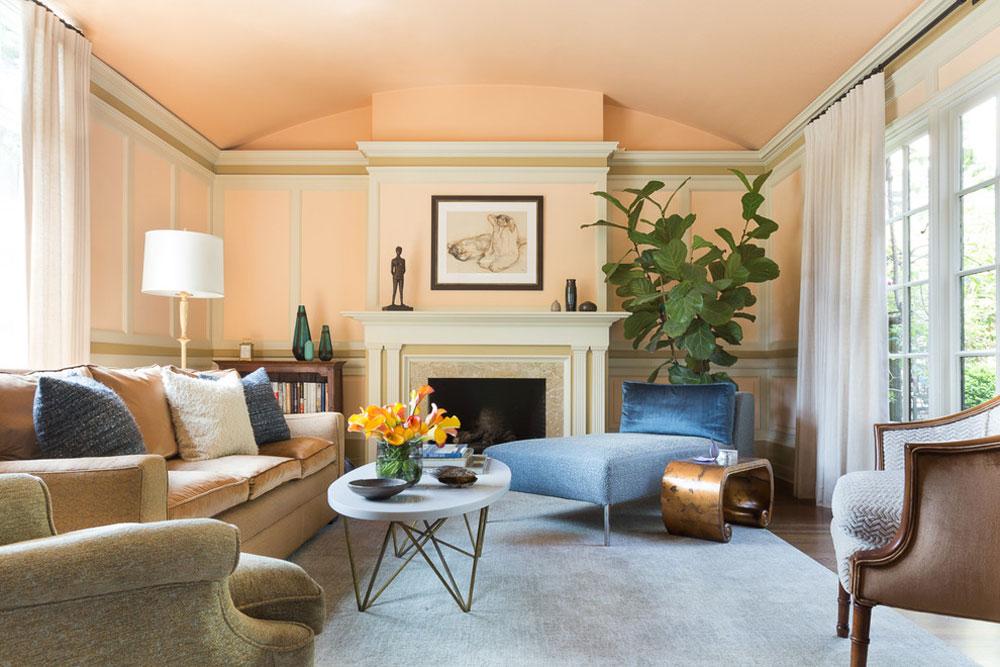 St.-Francis-Wood-San-Francisco-av-Brian-Dittmar-Design-Inc.  Använd persikafärgen för att dekorera fantastiska interiörer