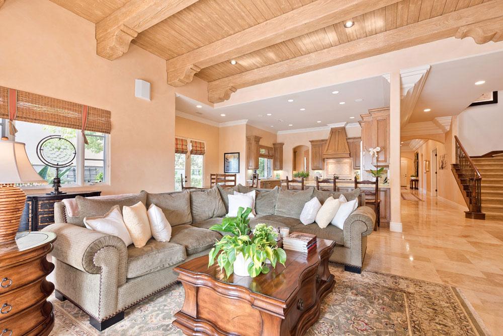 3-Meadows-Del-Mar-Occupied-Home-Staging-by-Shelley-Sass-Designs Använd persikafärgen för att dekorera fantastiska interiörer