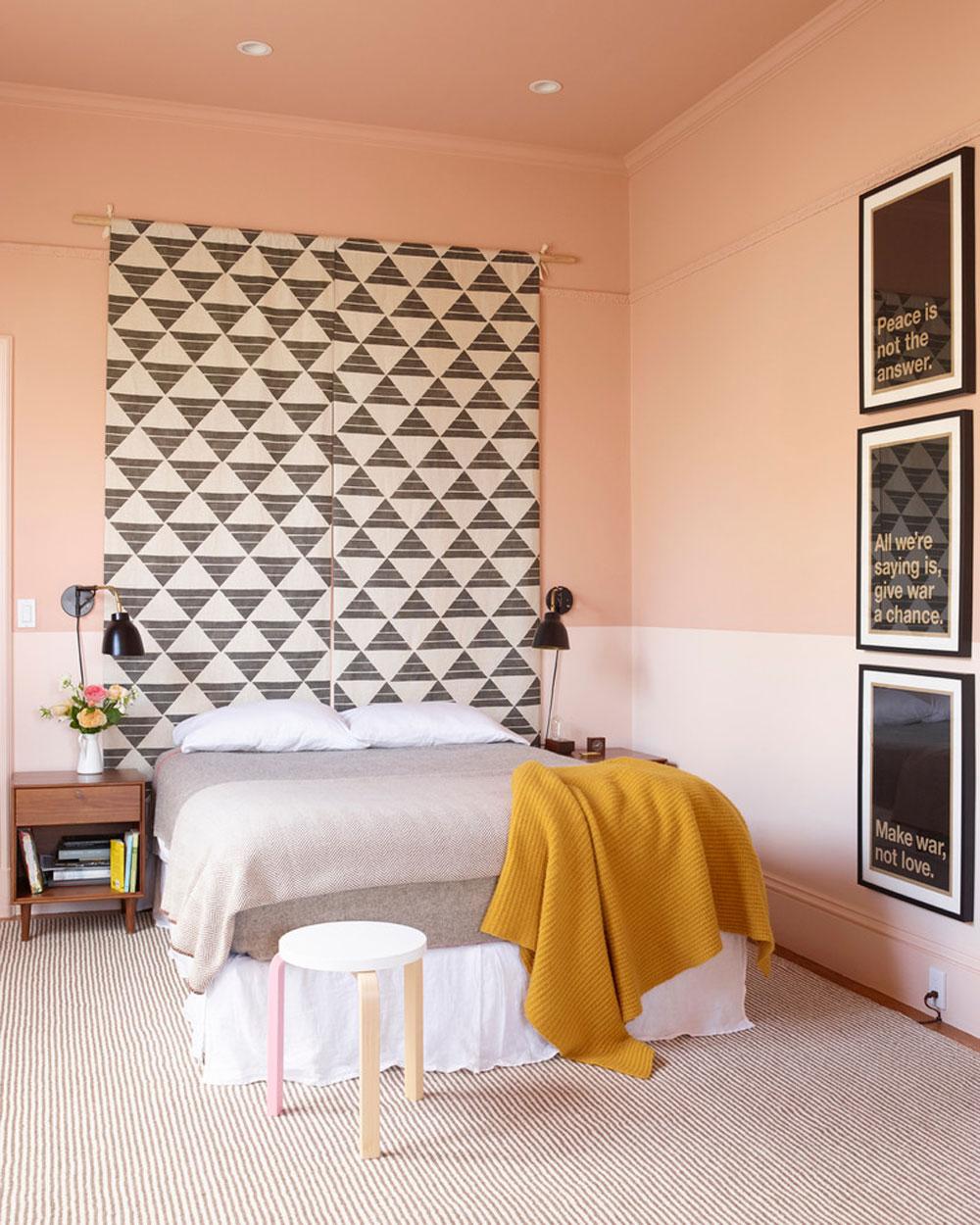 Castro-residence-by-the-office-of-Charles-de-Lisle Använd persikafärgen för att dekorera fantastiska interiörer