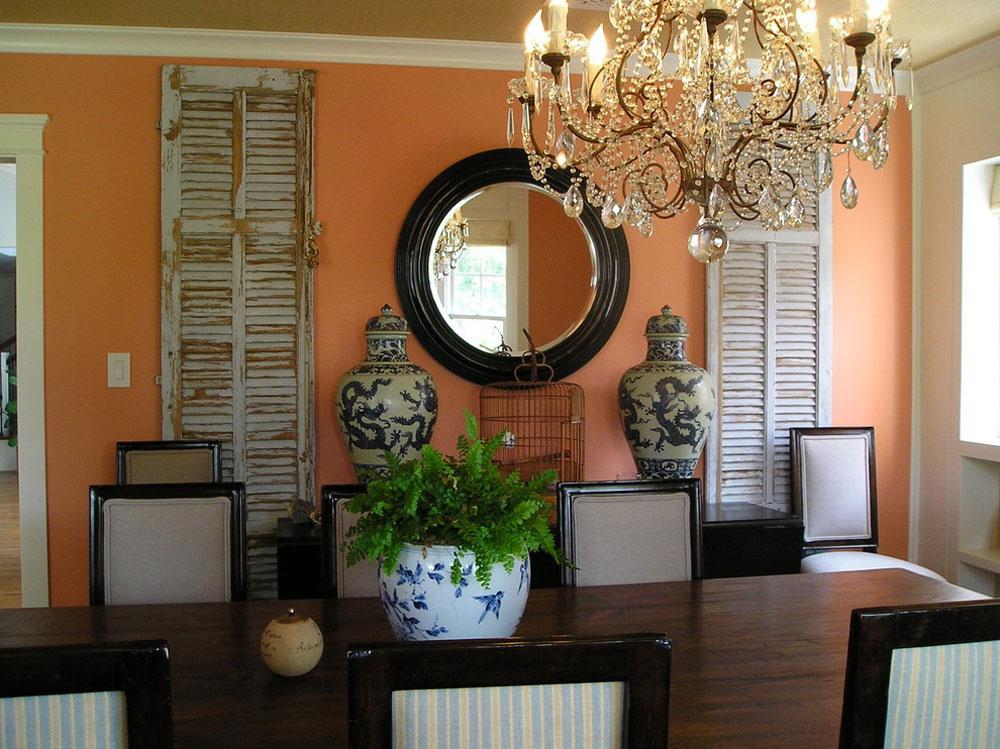 Traditionell matsal-av-Kim-Woods Använd persikafärgen för att dekorera fantastiska interiörer