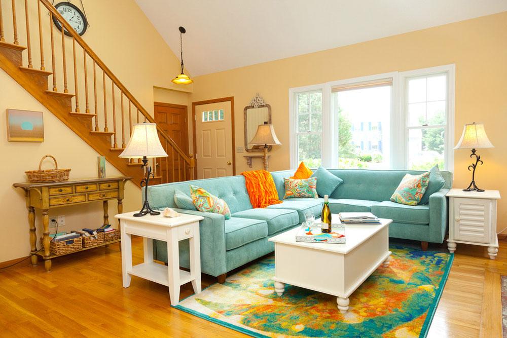 Color-Update-of-Seaside-Cottage-by-Decor-Rx-Interior-Design Använd persikafärgen för att dekorera fantastiska interiörer