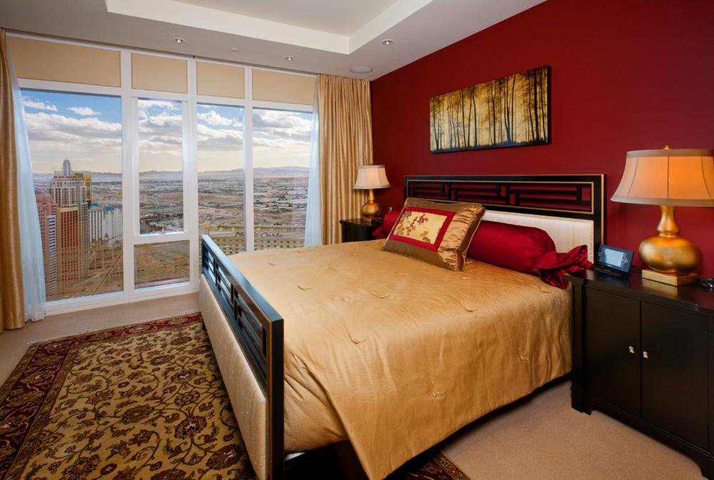 Living-by-Kevin-Barry-Fine-Art Röda sovrumsidéer: dekor, väggar, färg och möbler