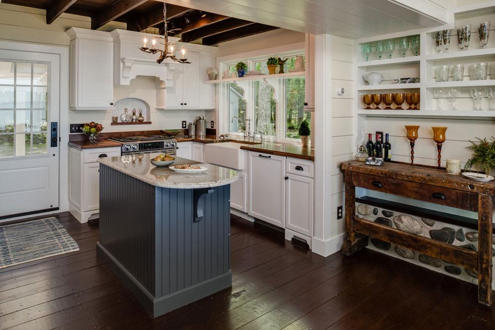 Stuga-stil-kök-mönster-lätt att få 2 stuga-stil kök design