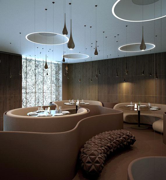 r32 Utställningar för inredning av kaféer och restauranger - 41 exempel