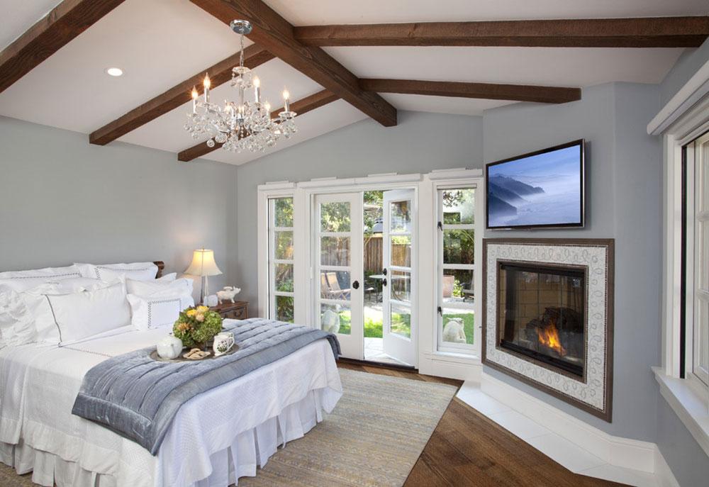 Carmel-by-AL-Interiors Ett vardagsrum med öppen spis och dekorinstruktioner