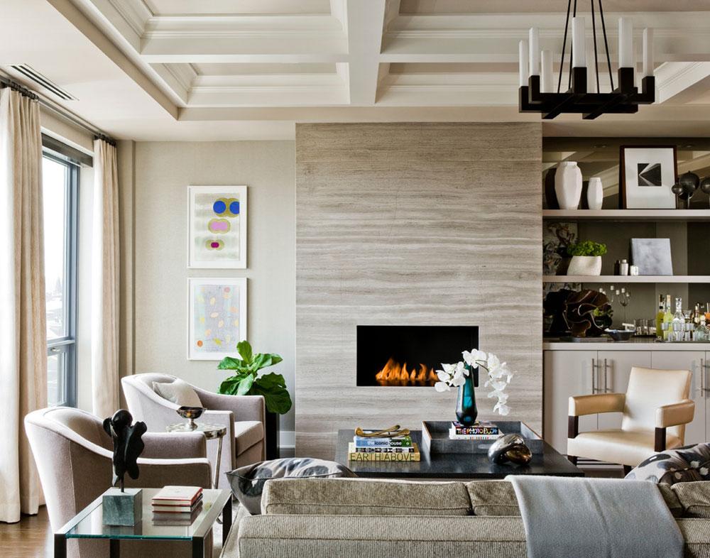 The-Bryant-Back-Bay-by-Elms-Interior-Design Ett vardagsrum med öppen spis och dekorinstruktioner