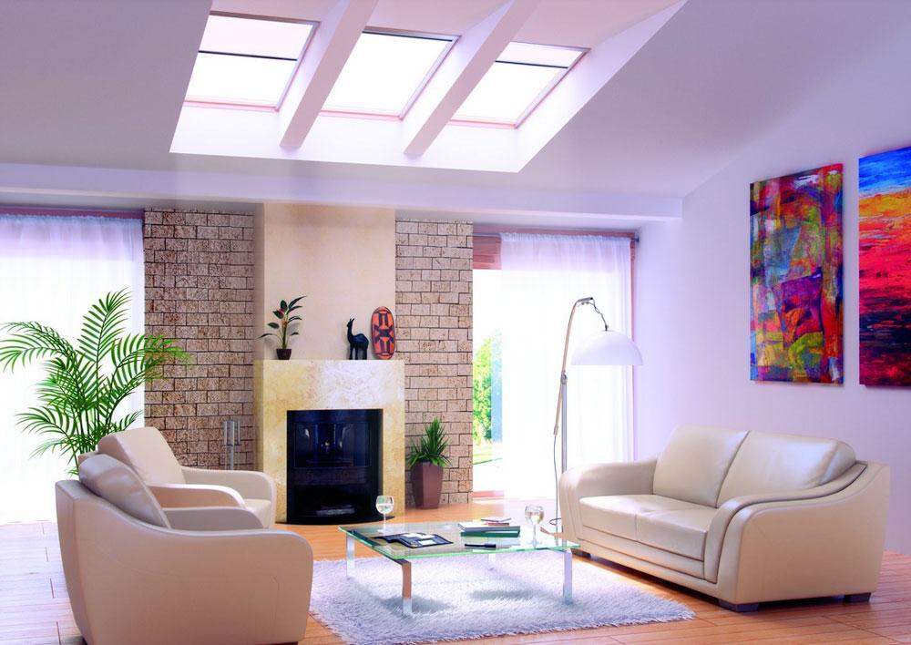 Vardagsrum med takfönster-med-naturligt ljus-10 Vardagsrum med takfönster med naturligt ljus