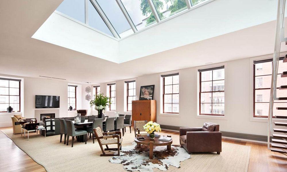 Vardagsrum med takfönster som ger naturligt ljus 3 vardagsrum med takfönster som ger naturligt ljus