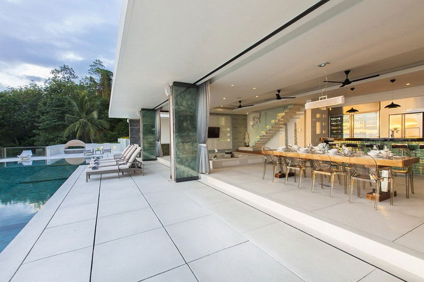 Modern-Tropical-VIlla-5 Modern tropisk VIlla med en enorm, glittrande pool