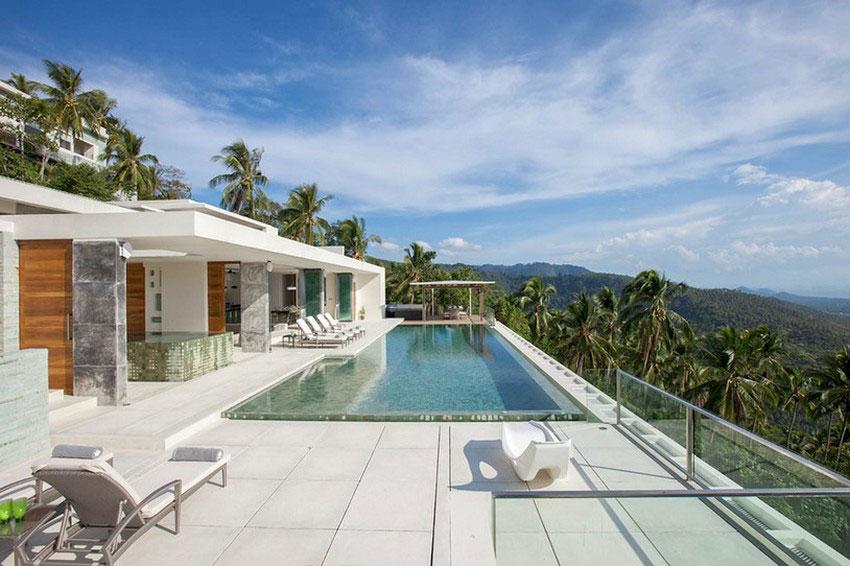 Modern-Tropical-VIlla-3 Modern tropisk VIlla med en enorm, glittrande pool