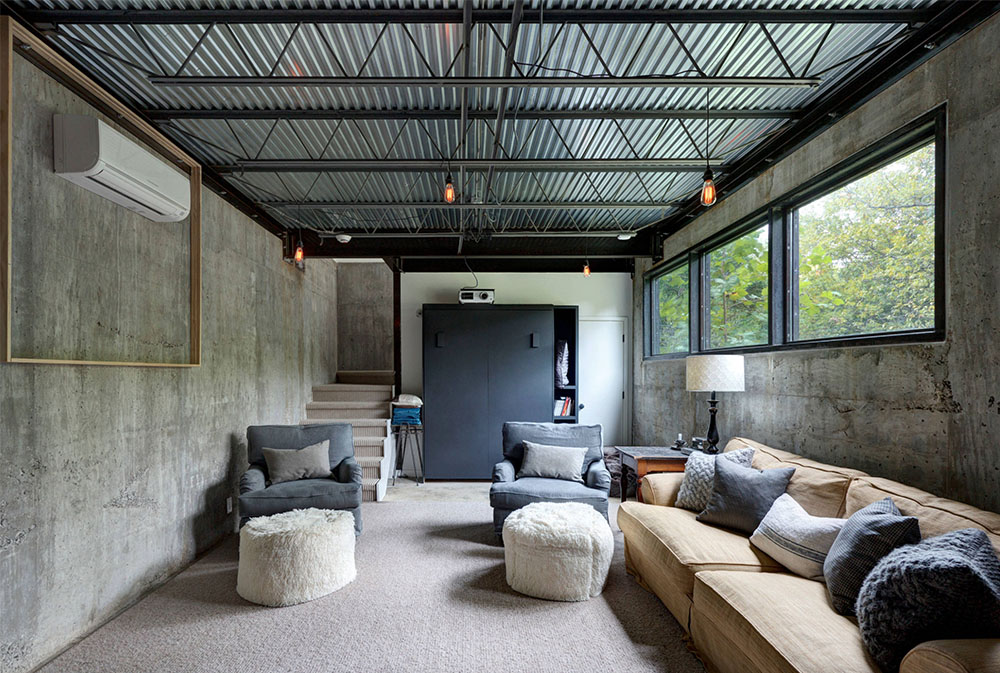Bouldin-Creek-Residence-by-Restructure-Studio-Basement Windows: Byt ut och dekorera