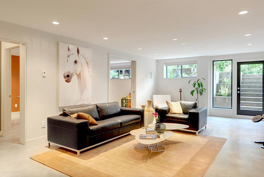 Familjerum-av-Meister-Construction-Ltd Källarfönster: byta ut och dekorera