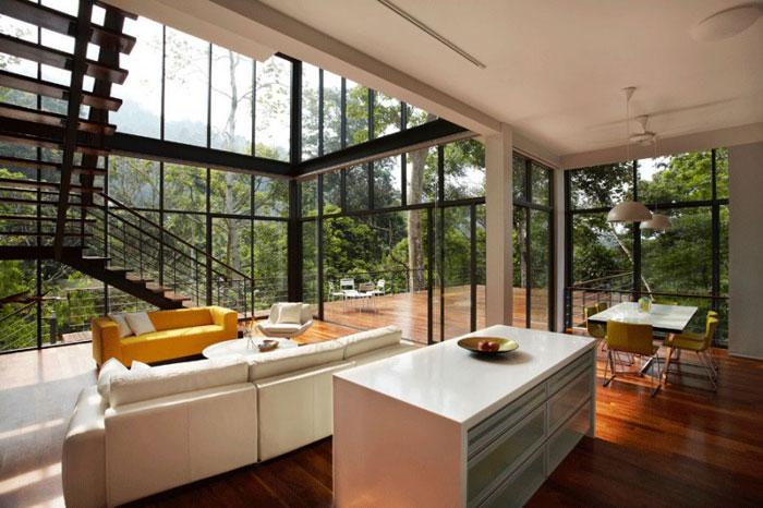 73517625478 Underbart däckhus i skogen Designad av Choo Gim Wah Architect
