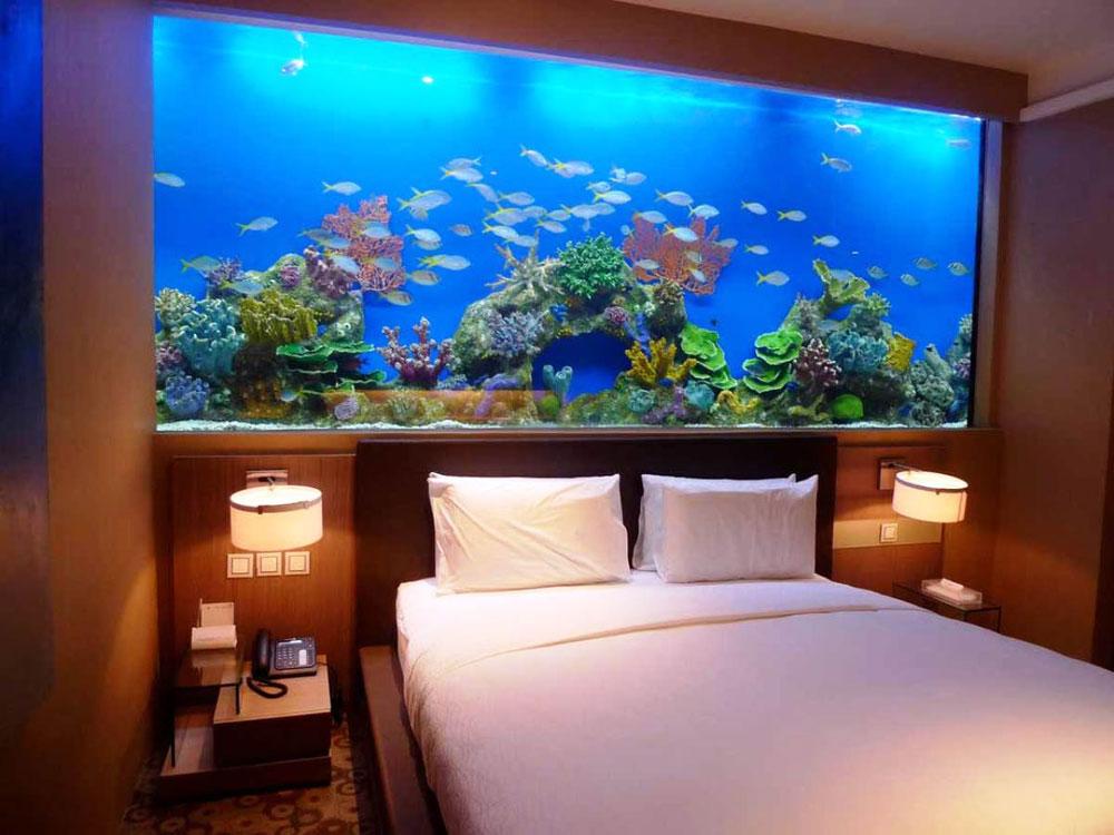 Ändra utseendet på ditt rum med denna akvarietank 10 Ändra utseendet på ditt rum med dessa akvarietankar