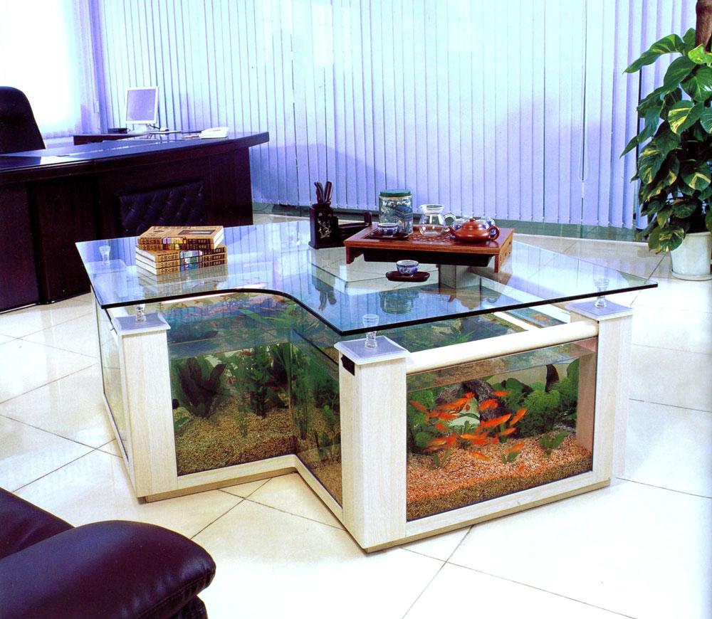 Ändra utseendet på ditt rum med denna akvarietank 6 Ändra utseendet på ditt rum med dessa akvarietankar