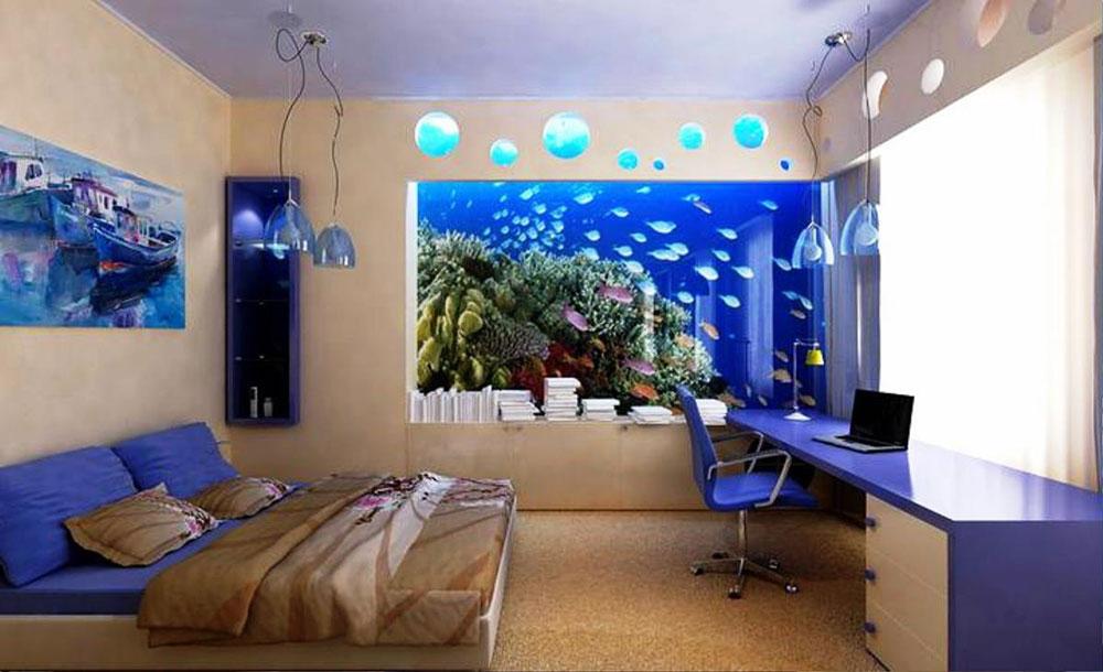 Ändra utseendet på ditt rum med denna akvarietank 8 Ändra utseendet på ditt rum med dessa akvarietankar