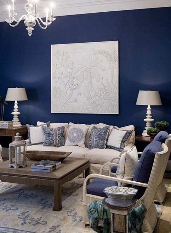 b18 Exempel på vardagsrum dekorerade med blått