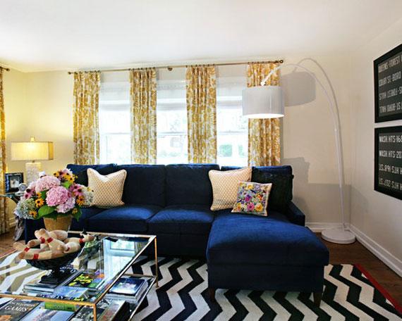 b20 Exempel på vardagsrum inredda i blått
