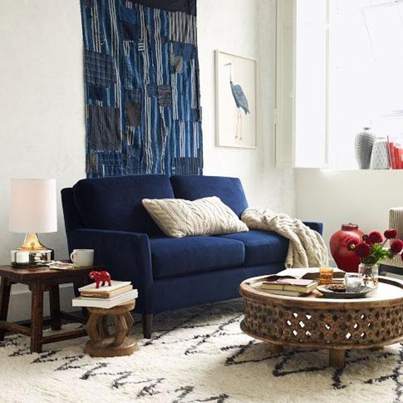 b11 Exempel på vardagsrum inredda i blått