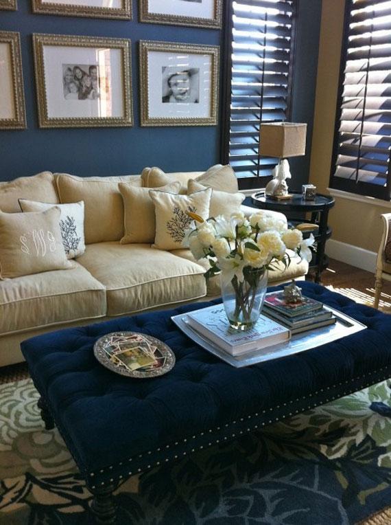 b13 Exempel på vardagsrum inredda i blått
