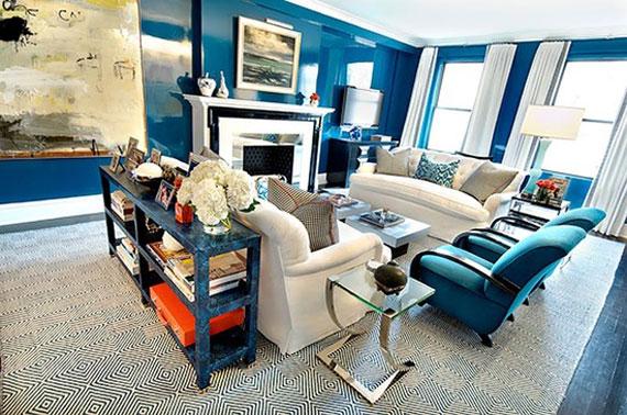 b33 Exempel på vardagsrum inredda i blått