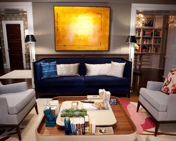 b22 Exempel på vardagsrum inredda i blått