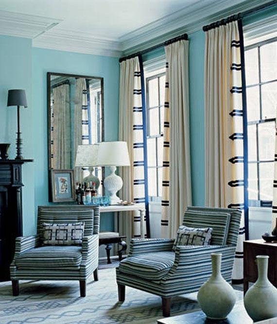 b15 Exempel på vardagsrum inredda i blått