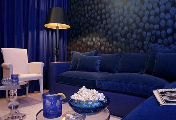 b23 Exempel på vardagsrum inredda i blått