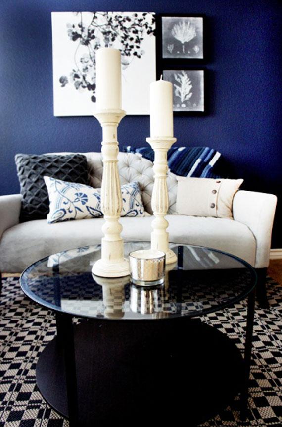 b7 Exempel på vardagsrum inredda i blått