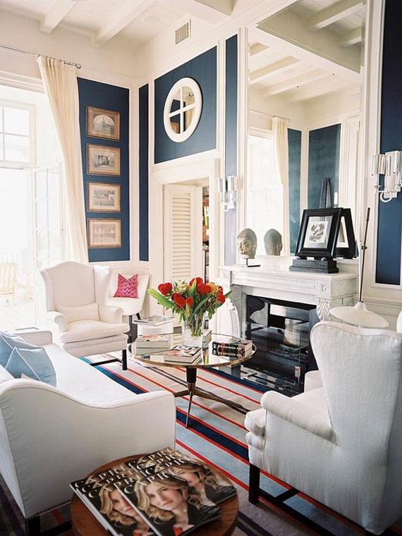 b9 Exempel på vardagsrum inredda i blått
