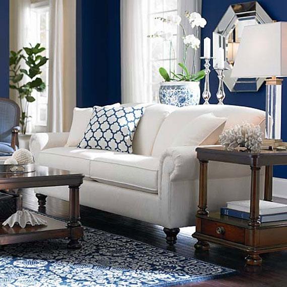 b6 Exempel på vardagsrum inredda i blått