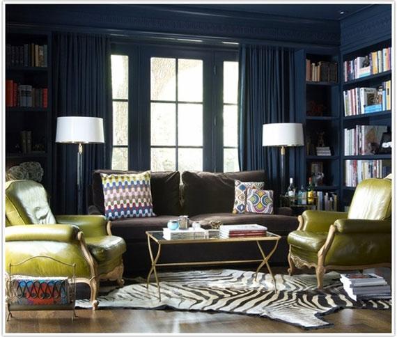 b4 Exempel på vardagsrum inredda i blått