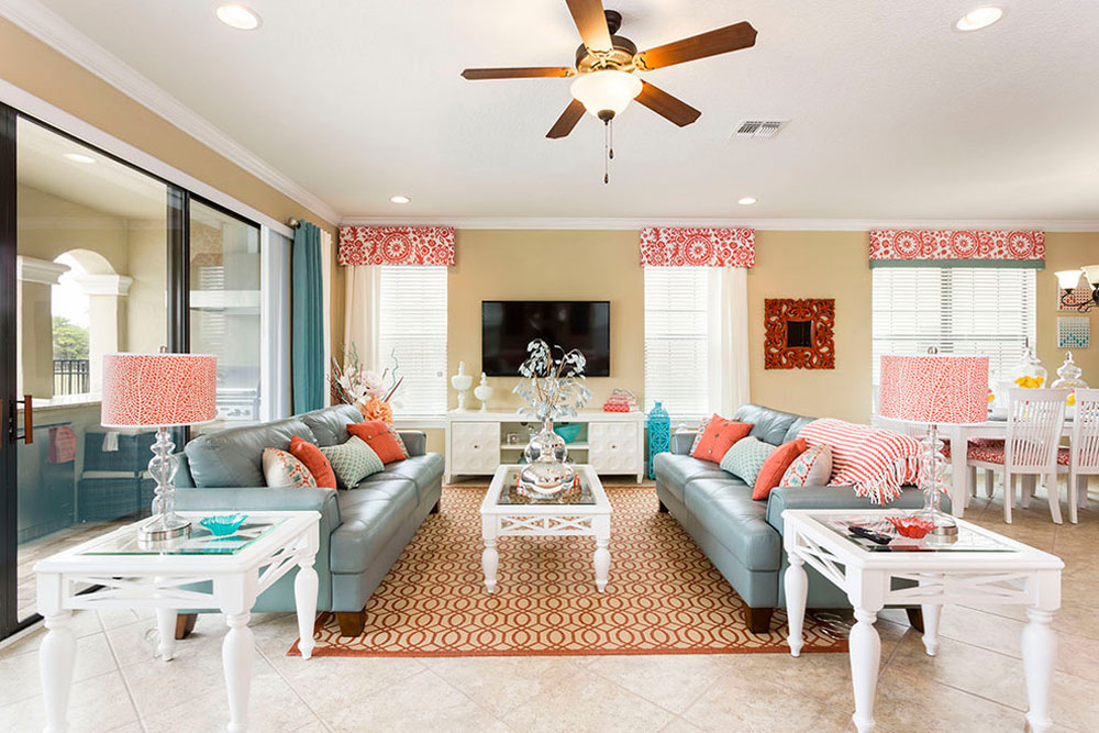 Highsmith House av Florida Möbelpaket Vattenfärgen: Hur man dekorerar husinteriören med den