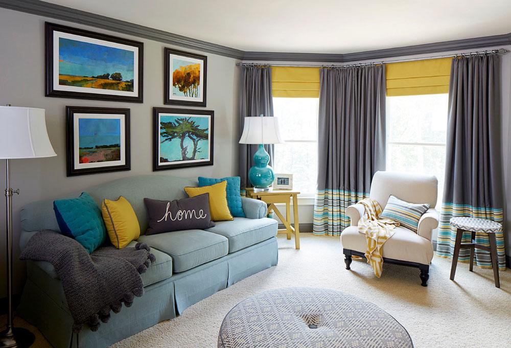 Färgglatt-kontor-West-Cobb-von-Meriwether-Design-Group Vattenfärgen: Hur du dekorerar ditt husinteriör med det