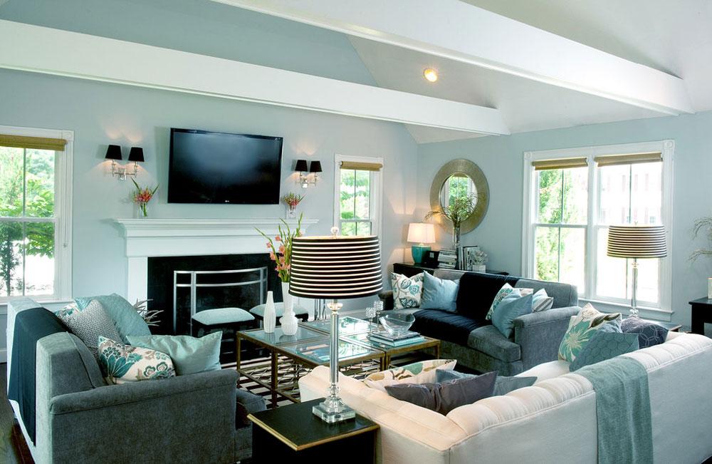 My-Houzz-A-Basic-Builder-Home-Gets-the-Glam-Treatment-by-Mary-Prince-Photography Aqua Color: Hur man använder den för att dekorera ditt hem