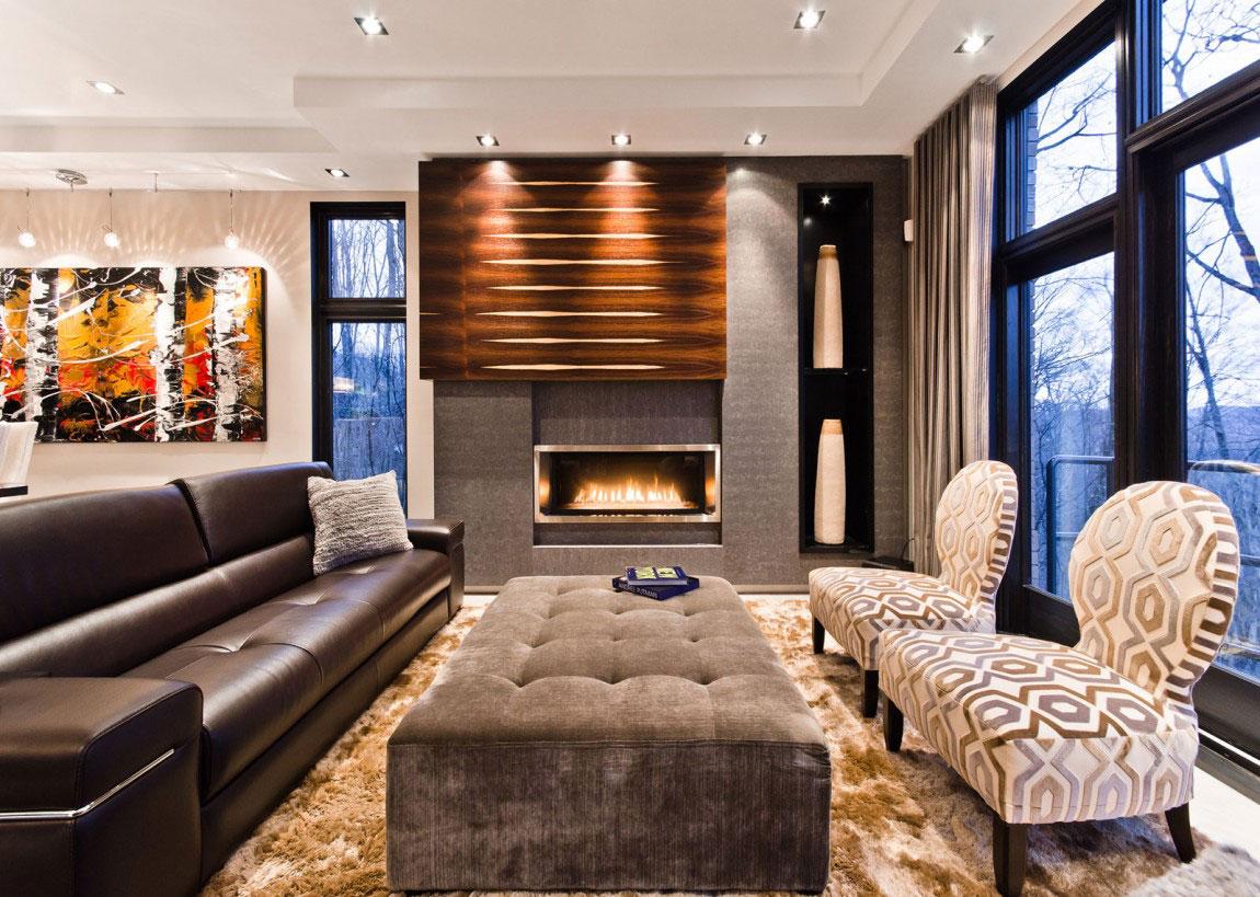 Kanadensiskt hus med modern inredning designad av ActDesign-3 Kanadensiskt hus med modern inredning designad av ActDesign