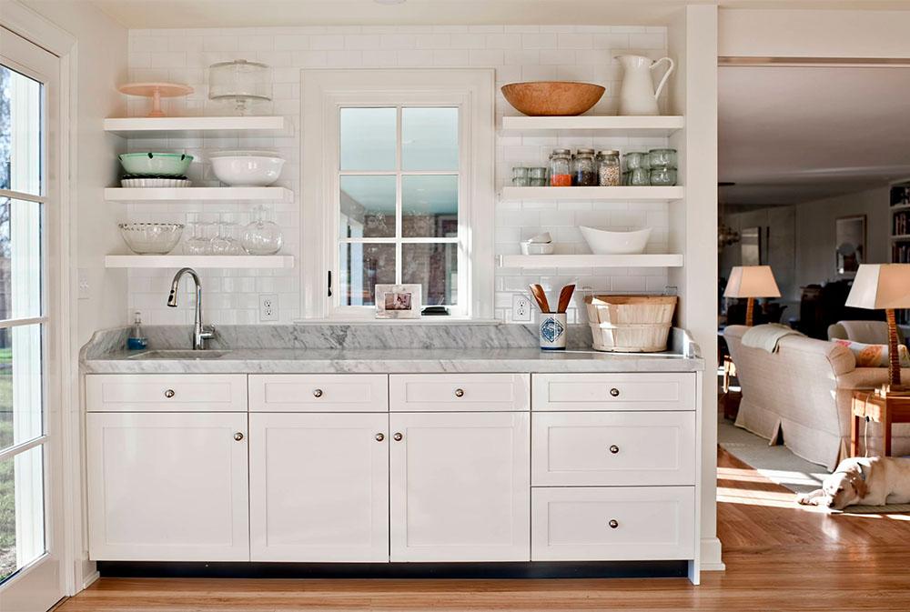 Baking-Center-by-Rock-Paper-Hammer Kitchen Shelves: Idéer för flytande, utdragbara och väggmonterade hyllor