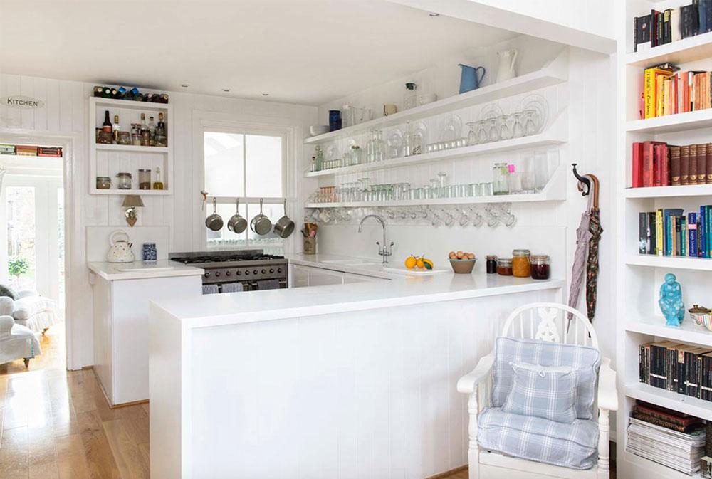 WHITSTABLE-ISLAND-COTTAGE-by-Whitstable-Island-Interiors Kökshyllor: Idéer för flytande, utdragbara, väggmonterade hyllor