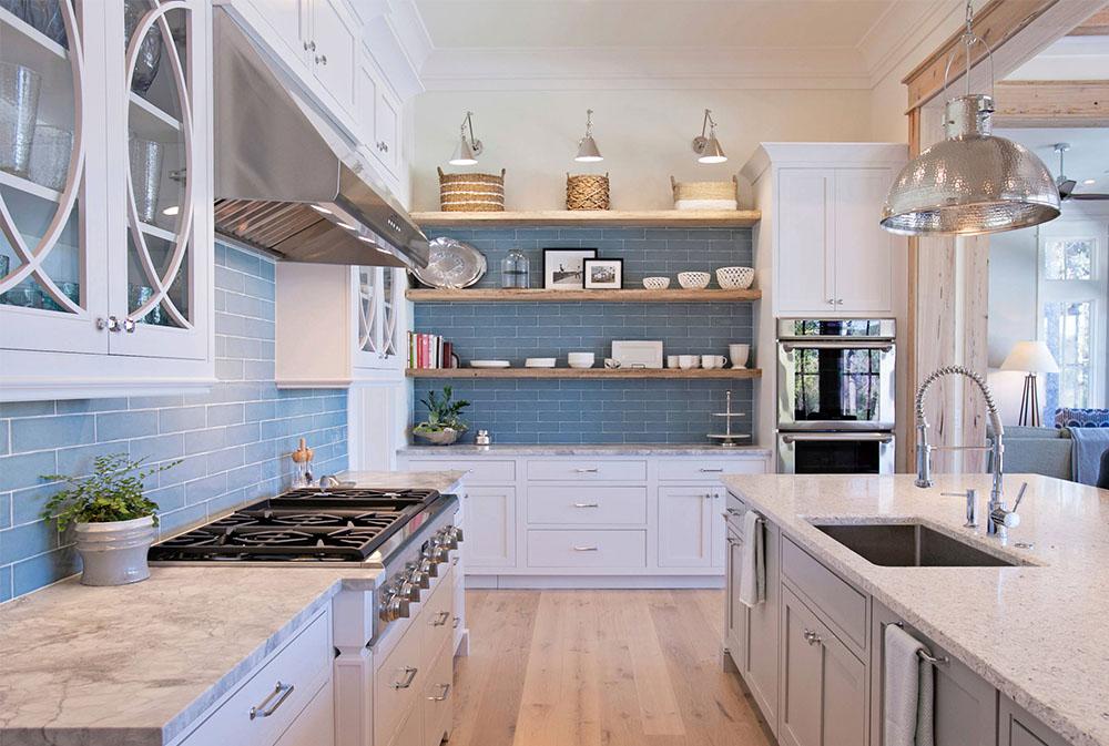 Kökshyllor från Cardinal-Rd-by-Holmes-Salter-Interiors: idéer för flytande, utdragbara och väggmonterade hyllor