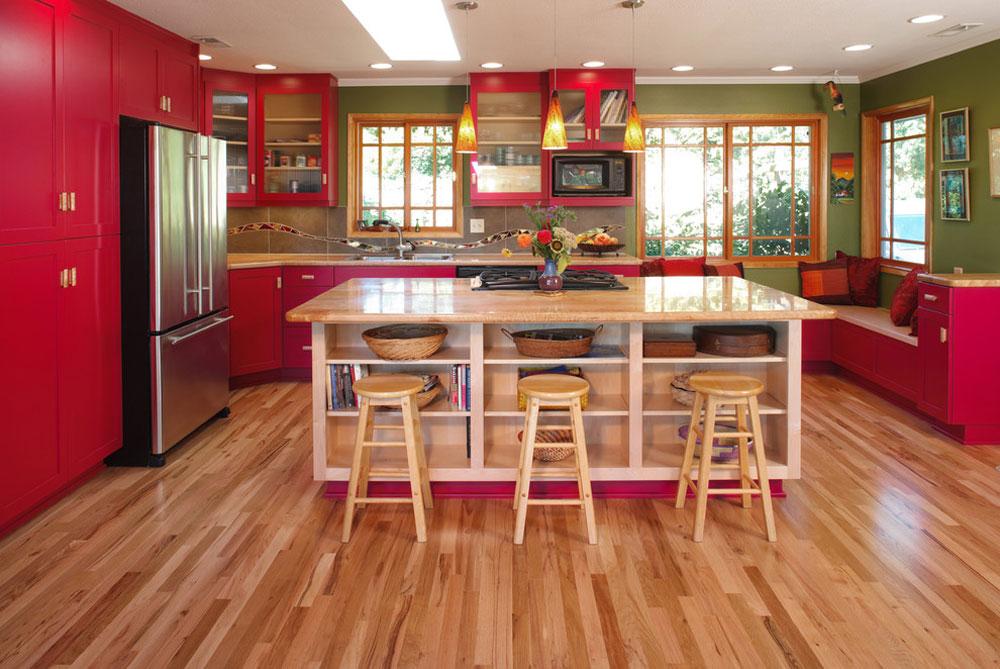 Corvallis-Custom-Kitchens-by-Corvallis-Custom-Kitchen-Baths Rött köksdesign: idéer, väggar och dekor