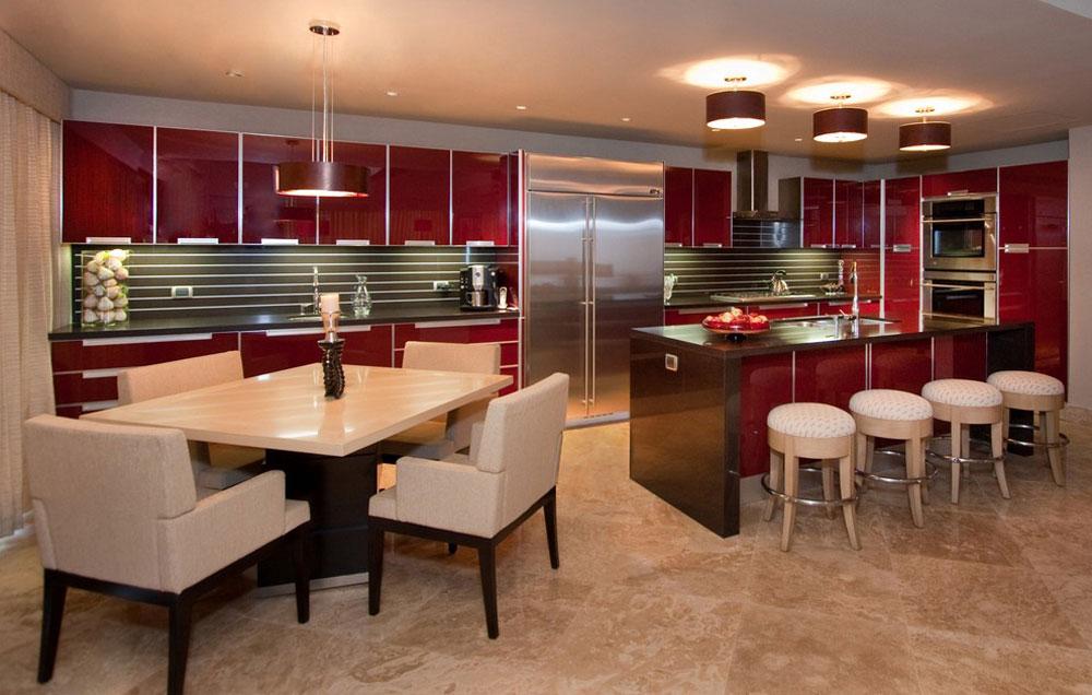 Modernt kök-av-Peg-Berens-Interior-Design-LLC Rött köksdesign: idéer, väggar och dekor