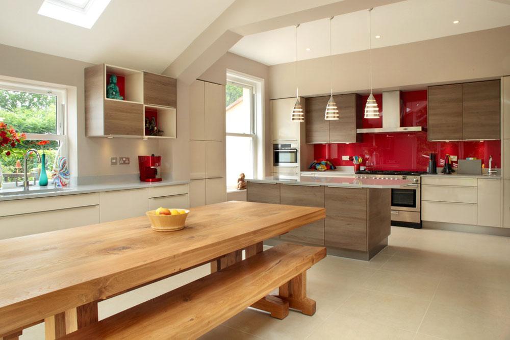 Modernt kök av Design-a-Space Red Kitchen Design: idéer, väggar och dekor