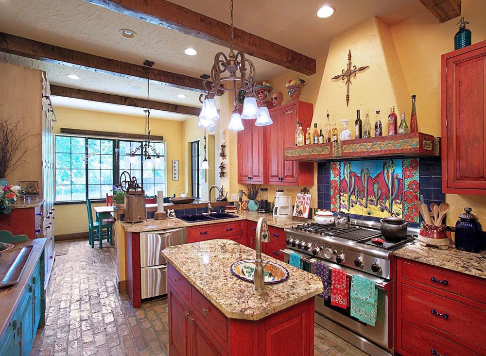 Kitchen-by-Gritton-Associates-Architects Rött köksdesign: idéer, väggar och dekor
