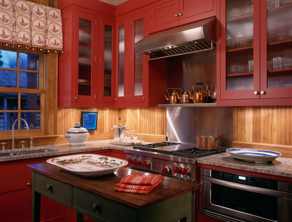 Jagdhaus-Oxford-by-Johnson-Berman Red Kitchen Design: Idéer, väggar och dekor